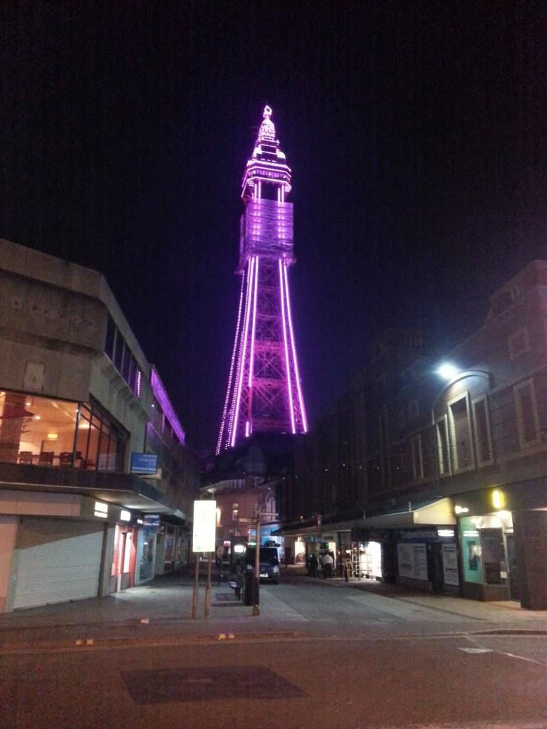 Blackpool tower illuminated by LED Light modules
