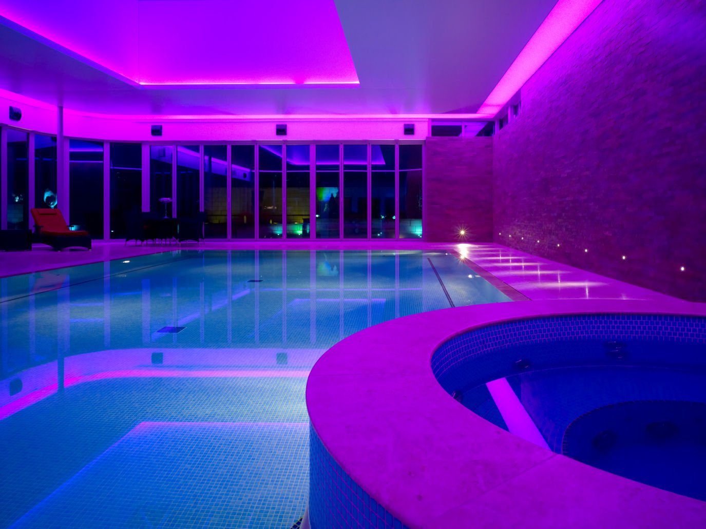 Swimming Pool Led Lights: red house hotel swimming pool